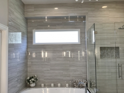 Sleek and Chic Master Bath