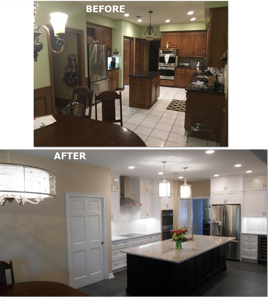 Before And After Of This Beautiful Open Concept Kitchen: Sterling Renovations & Design