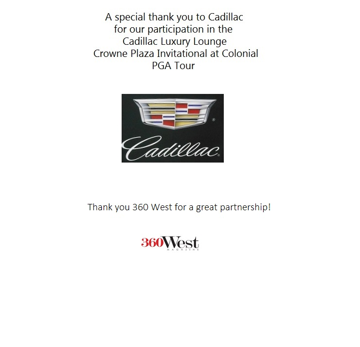 Back of insert thank you to Cadillac and 360 West sample