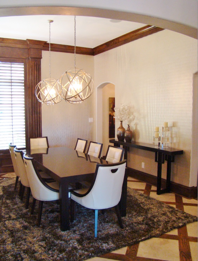 Fuller dining room with rug
